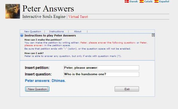 Peteranswer answer my question