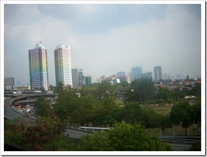Jakarta from bus