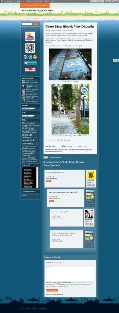 ScreenShot dhimaskasep.wordpress.com in BEACH Theme