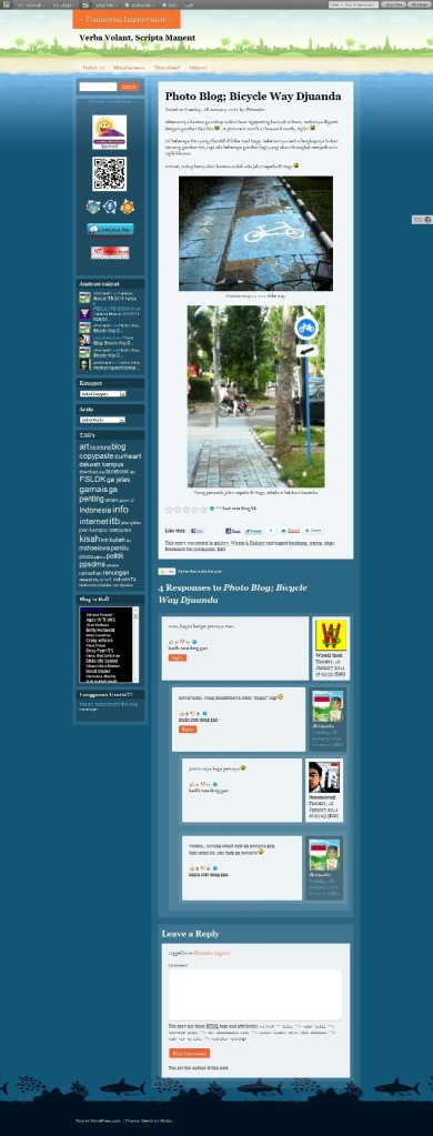 ScreenShot dhimaskasep.wordpress.com in BEACH Theme