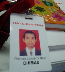 Halliburton dhimas id card